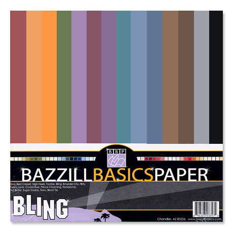 Bazzill - Bazzill Bling - 12 x 12 Cardstock Multi-Pack - Dark Bling - 30 Sheets