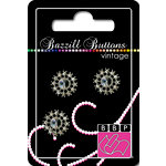 Bazzill Basics - Vintage Collection - Jewel Buttons - Bling - Victoria, CLEARANCE
