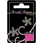 Bazzill Basics - Vintage Collection - Jewel Buttons - Bling - Ariana