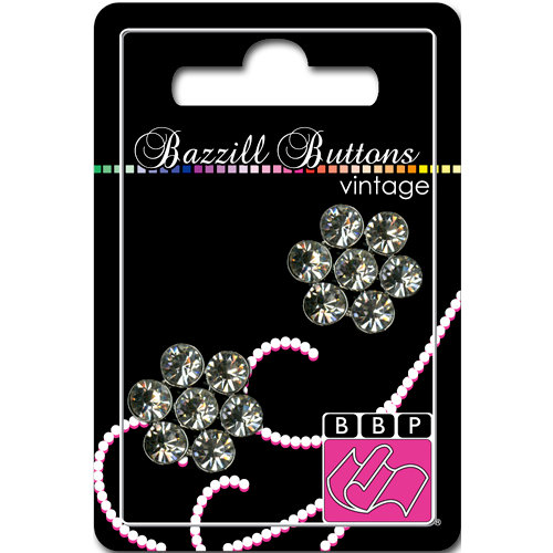 Bazzill Basics - Vintage Collection - Jewel Buttons - Bling - Madeline