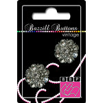 Bazzill Basics - Vintage Collection - Jewel Buttons - Bling - Helene, CLEARANCE