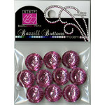 Bazzill Basics - Modern Collection - Buttons - Bling - Petunia Pink, CLEARANCE