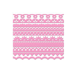 Bazzill Basics - Half The Edge Collection - 6 Inch Cardstock Strips - Fussy