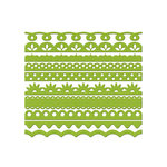 Bazzill Basics - Half The Edge Collection - 6 Inch Cardstock Strips - Parakeet, CLEARANCE