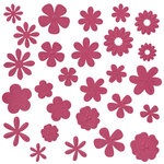 Bazzill Basics - Flower Pot Collection - Shimmer Paper Flowers - Feather Boa