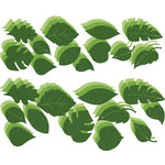 Bazzill Basics - Flower Pot Collection - Shimmer Paper Leaves - Bling Green, CLEARANCE