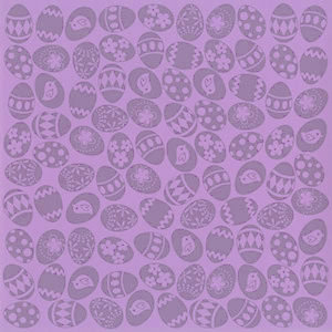 Bazzill Basics - 12 x 12 Glazed Cardstock - Easter Eggs - Snapdragon