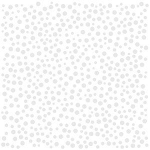 Bazzill Basics - 12 x 12 Glazed Cardstock - Polka Dot - Bazzill White