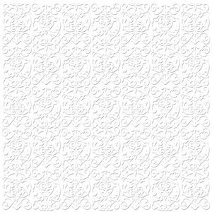 Bazzill - 12 x 12 Embossed Cardstock - Trellis - Bazzill White