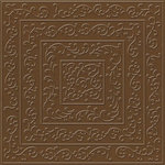 Bazzill - 12 x 12 Embossed Cardstock - Shabby Chic - Chocolate