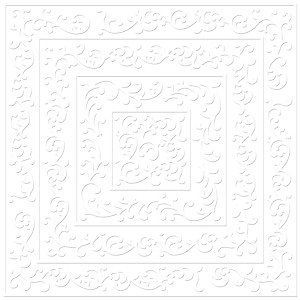 Bazzill - 12 x 12 Embossed Cardstock - Shabby Chic - Bazzill White