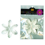Bazzill Basics - Paper Flowers - 3.75 Inch Lily - White, CLEARANCE