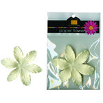 Bazzill Basics - Paper Flowers - 3.75 Inch Lily - Lily French Vanilla, CLEARANCE