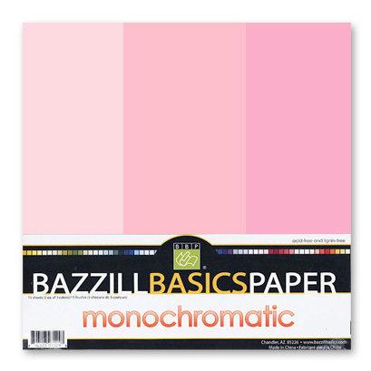 Bazzill - Monochromatic Trio Packs - 12 x 12 - Petunia