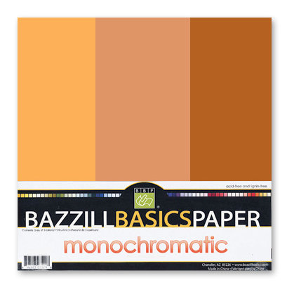 Bazzill - Monochromatic Trio Packs - 12 x 12 - Yam