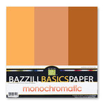 Bazzill - Monochromatic Trio Packs - 12 x 12 - Yam
