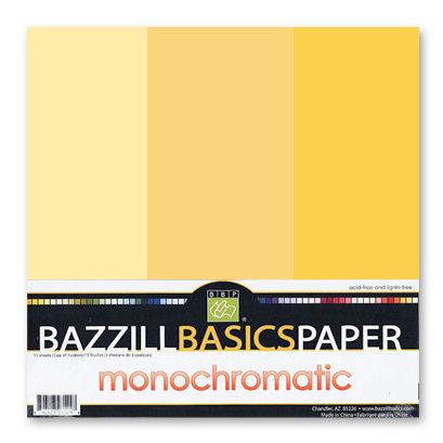Bazzill - Monochromatic Trio Packs - 12 x 12 - Sunbeam