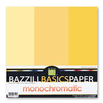 Bazzill - Monochromatic Trio Packs - 12 x 12 - Sunbeam