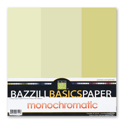 Bazzill - Monochromatic Trio Packs - 12 x 12 - Pear