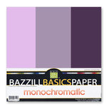 Bazzill - Monochromatic Trio Packs - 12 x 12 - Pansy