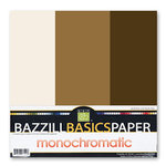 Bazzill - Monochromatic Trio Packs - 12 x 12 - Chocolate