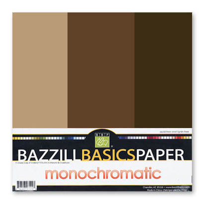 Bazzill - Monochromatic Trio Packs - 12 x 12 - Java