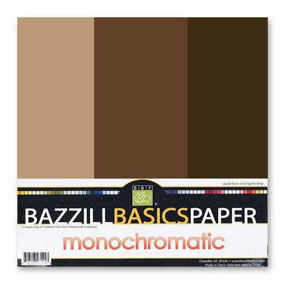 Bazzill - Monochromatic Trio Packs - 12 x 12 - Java