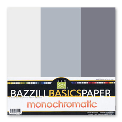 Bazzill - Monochromatic Trio Packs - 12 x 12 - Thunder