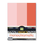 Bazzill - Monochromatic Trio Packs - 8.5 x 11 - Flamingo