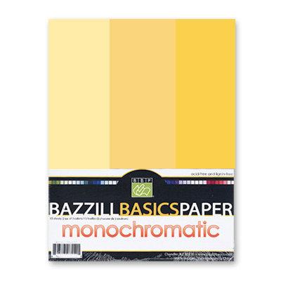Bazzill - Monochromatic Trio Packs - 8.5 x 11 - Sunbeam