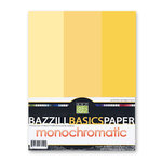 Bazzill - Monochromatic Trio Packs - 8.5 x 11 - Sunbeam