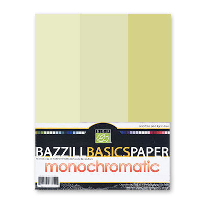 Bazzill - Monochromatic Trio Packs - 8.5 x 11 - Pear