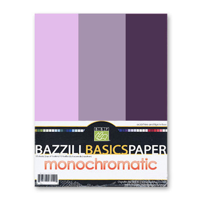Bazzill - Monochromatic Trio Packs - 8.5 x 11 - Pansy