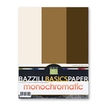 Bazzill - Monochromatic Trio Packs - 8.5 x 11 - Chocolate