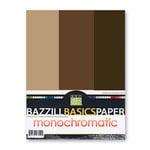 Bazzill - Monochromatic Trio Packs - 8.5 x 11 - Java