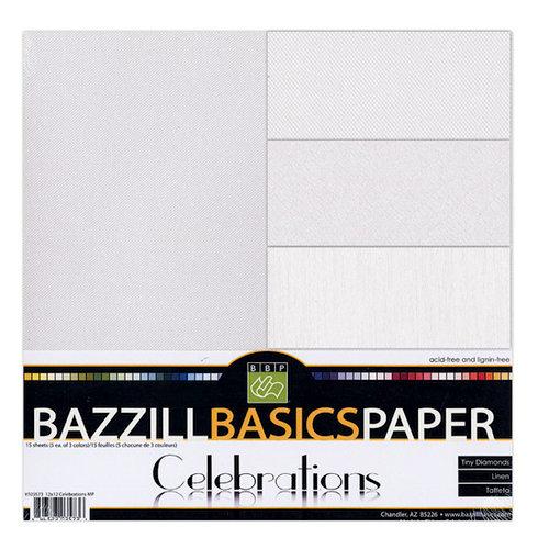 Bazzill Basics - Celebrations - 12 x 12 Cardstock Multi-Pack - 15 Sheets