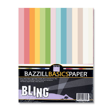 Bazzill - Bazzill Bling - 8.5 x 11 Cardstock Multi-Pack - Light Bling - 30 Sheets