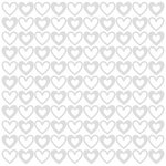 Bazzill - 12 x 12 Glazed Cardstock - Big Hearts - Lily White
