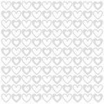 Bazzill - 12 x 12 Glazed Cardstock - Big Hearts - Lily White