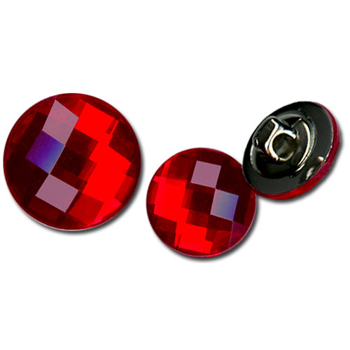 Bazzill Basics - Timeless Collection - Buttons - Bling - Candy Apple