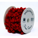 Bazzill Basics - Ribbon - 15 Yards - 3/8 Inch Pom Poms - Brick
