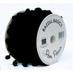 Bazzill Basics - Ribbon - 15 Yards - 3/8 Inch Pom Poms - Raven