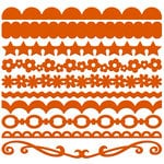 Bazzill Basics - Half The Edge II Collection - 6 Inch Cardstock Strips - Festive, CLEARANCE