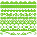 Bazzill Basics - Half The Edge II Collection - 6 Inch Cardstock Strips - Kiwi, CLEARANCE