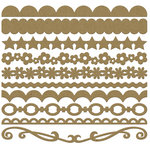Bazzill Basics - Half The Edge II Collection - 6 Inch Cardstock Strips - Kraft, CLEARANCE
