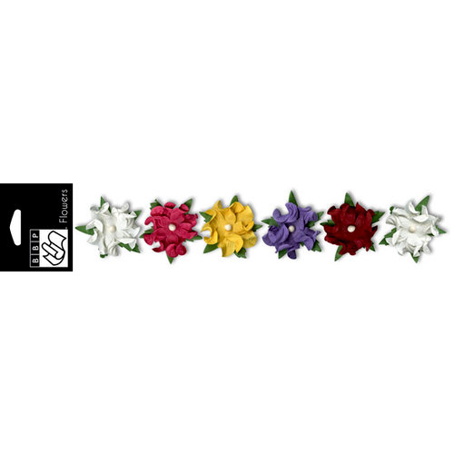 Bazzill Basics - Grandma's Feather Bed Collection - Paper Flowers - 1.5 Inch - Twisted