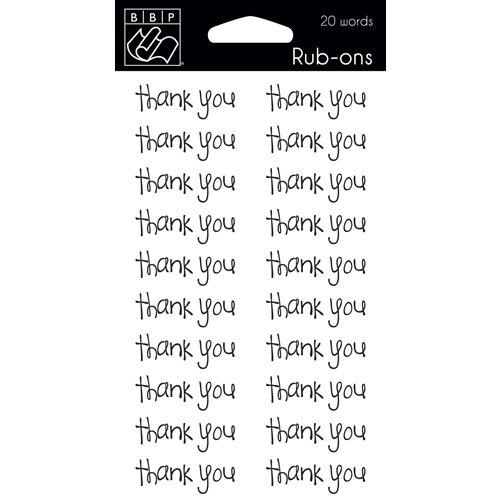 Bazzill - Rub Ons - Thank You