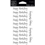 Bazzill - Rub Ons - Happy Birthday
