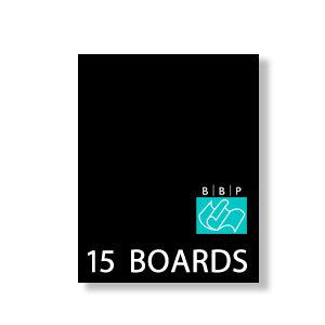 Bazzill - 5 x 7 Black Board - Chipboard Pack - 15 Sheets