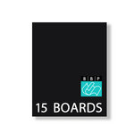 Bazzill Basics - 5 x 7 Black Board - Chipboard Pack - 15 Sheets